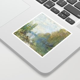 The Banks of The Seine in Autumn by Claude Monet Sticker