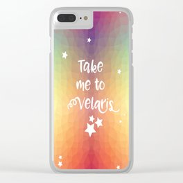 Take Me To Velaris - Night Court Print -A Court of Mist and Fury Rainbow Clear iPhone Case