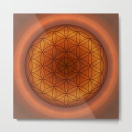 Mandala Flower of Life 1 Metal Print