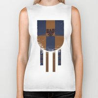 ravenclaw Biker Tanks featuring ravenclaw crest by nisimalotse