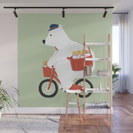 Polar bear postal express Wall Mural