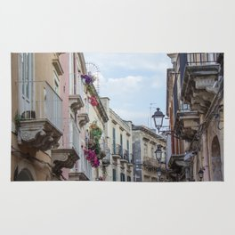 Street in Syracuse, Sicily Rug