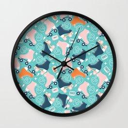 Roller skates pattern 02 Wall Clock