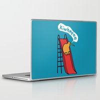 kiwi Laptop & iPad Skins featuring Kiwi by Picomodi
