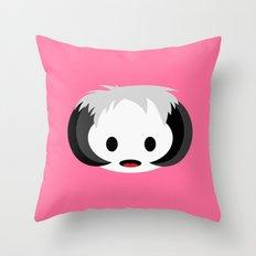 Bright Pink Wampa Throw Pillow