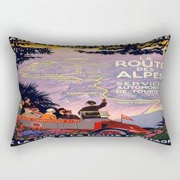 Vintage poster - Route des Alpes, France Rectangular Pillow