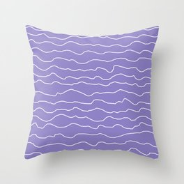 Lavender with White Squiggly Lines Throw Pillow