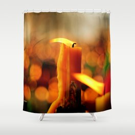 Candles and Prayers Shower Curtain