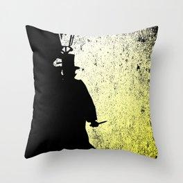 Jack The Ripper Grunge Throw Pillow