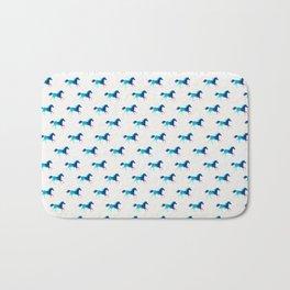 blue horse pattern Bath Mat