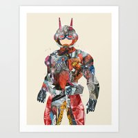 superheros Art Prints featuring pop art antman  by bri.buckley