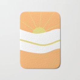 """ Orange days "" Bath Mat"