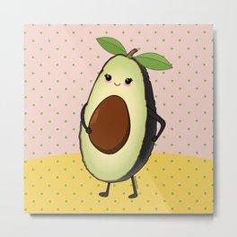 Cute avocado mom Metal Print