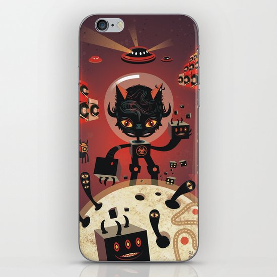 DJ Hammerhand cat - party at ogm garden iPhone & iPod Skin