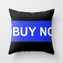 Buy Now Blue Throw Pillow