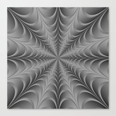 Silver Web Canvas Print