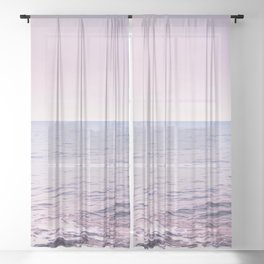 Blissful Ocean Dream #2 #pastel #wall #decor #art #society6 Sheer Curtain