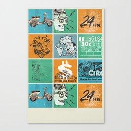 Tic Tac Pop Canvas Print