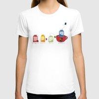 tea T-shirts featuring tea by Emma Harckham