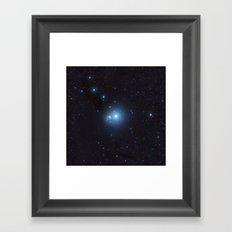 Bright Nebula Framed Art Print