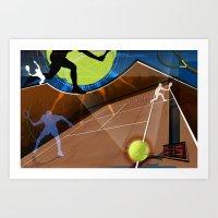 tennis Art Prints featuring Tennis by Robin Curtiss