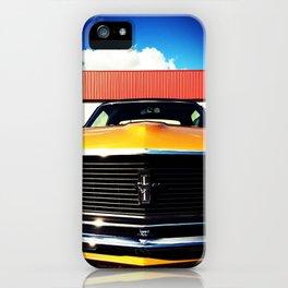 Orange Mustang  iPhone Case