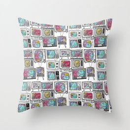 colour tv Throw Pillow