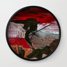 Kingfisher in Black Wall Clock