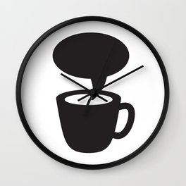 Coffee cup dialogue Wall Clock