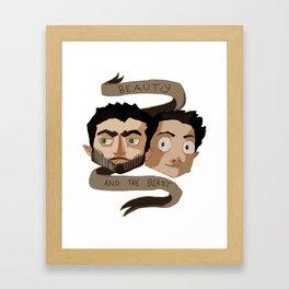 The Beauty and the Beast [Sterek] Framed Art Print
