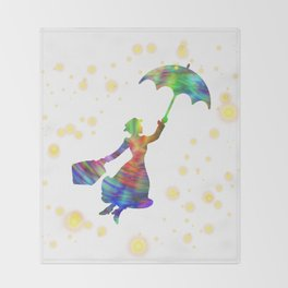 Mary Poppins - The Magical Nanny Throw Blanket