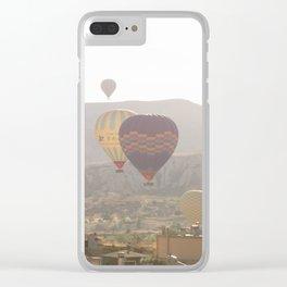 Foggy Morning Balloon Ride, Cappadocia Clear iPhone Case