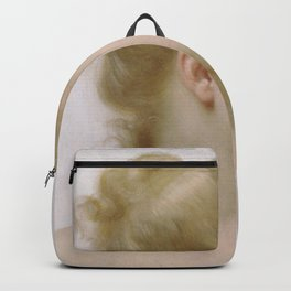 William-Adolphe Bouguereau - Study - Head Of A Little Girl Backpack