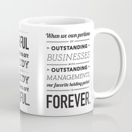 Buffett | Own a Stock | Typography | White Coffee Mug