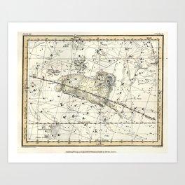 Aries Constellation Celestial Atlas Plate 13 Art Print