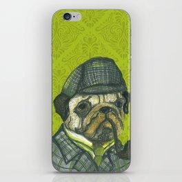 Puglock Holmes iPhone Skin