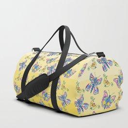 Butterflies and Flowers Duffle Bag