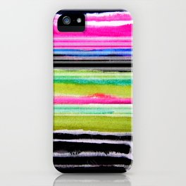 bohemian abstract painting iPhone Case