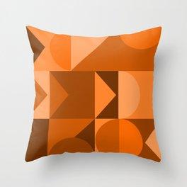Desert Vibes Geometric Shapes in Terracotta and Burnt Orange Throw Pillow