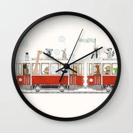 a little city adventure Wall Clock