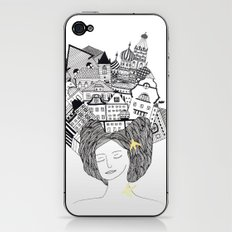 On my head iPhone & iPod Skin