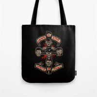 in the flesh Tote Bags featuring Appetite For Flesh by Letter_q