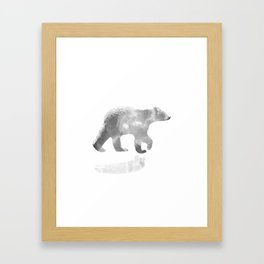 graphic bear III Framed Art Print