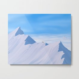 The Highest Mountain Metal Print