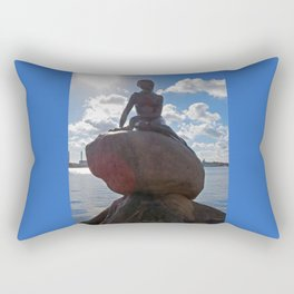 Little Mermaid Backlight Copenhagen Denmark Photograph Rectangular Pillow