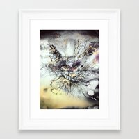 cheshire cat Framed Art Prints featuring Cheshire  by Katerina Chivil