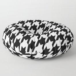 Classic Houndstooth Design Print Floor Pillow
