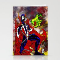 spawn Stationery Cards featuring Spawn Color by Gurriapu