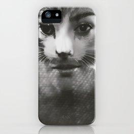 Woman & Cat iPhone Case