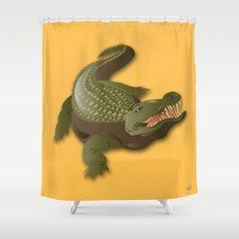 Crocodile - 'A Fantastic Journey' Shower Curtain